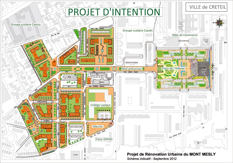 Ville de cr teil projet de r novation urbaine du mont mesly for Projet de plan