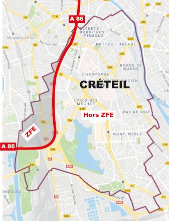 Carte Creteil.Ville De Creteil Zone A Faibles Emissions Zfe Une