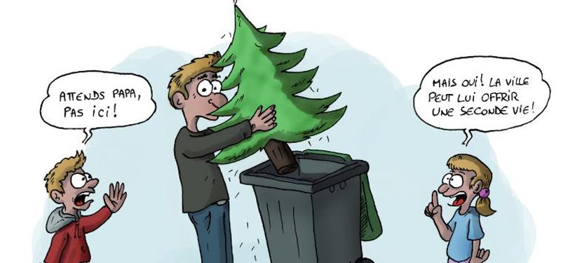 Ville de cr teil recyclez vos sapins de no l - Sapin de noel humour ...
