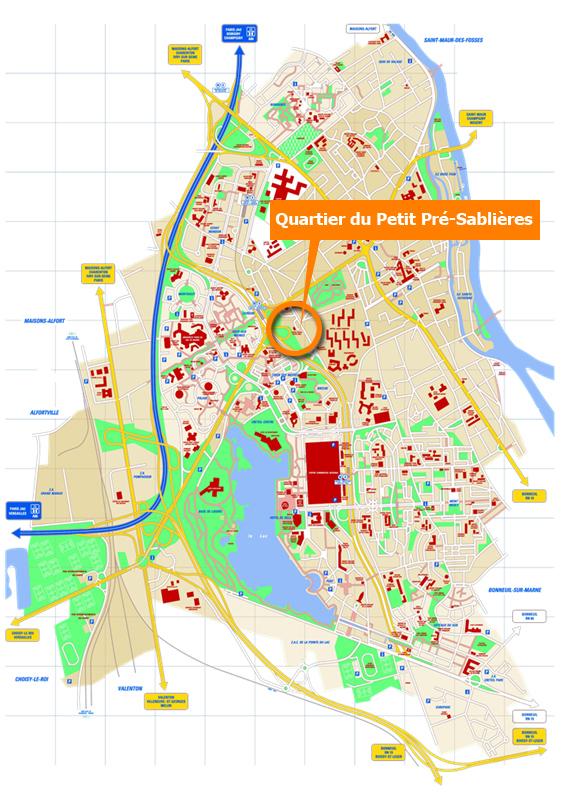 Carte Creteil.Ville De Creteil Presentation Du Quartier Petit Pre
